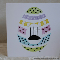 Easter Egg card printed from an original watercolour Easter Egg