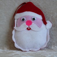 SALE Handcrafted Father Christmas Decoration Christmas Tree Decoration Santa