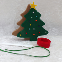SALE Easy, Fun, Unique standing Christmas Tree Craft Kit Green Christmas Tree