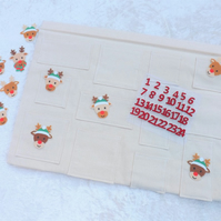 SALE Handcrafted Advent Calendar kit Make your own Reindeer Advent Calendar