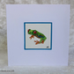 Unique Hand Painted Tree Frog Greetings Card Tree Frog Card