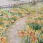 Original watercolour painting of daffodils in field