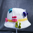 Little Miss Sunshine Butterfly cotton sun hat  ages 2-4 years