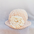 Little baby Miss peaches and cream cotton sun hat Age 0-3 months