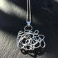 Handmade, unique, quirky,  Sterling Silver ' Doodle' pendant