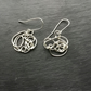 Handmade Sterling Silver Doodle squiggle earrings