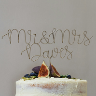 Mr and Mrs Surname Cake Topper
