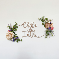 Customised Name Floral Sign