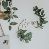 Eucalyptus Name Floral Sign