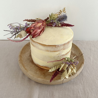 Rustic Dried Flower Cake Decorations