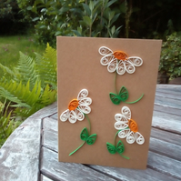 Quilled Daisies Greetings Card