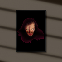 The Shining digital download . Here's Johnny print . Wall decor .
