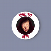 The Shining Personalised glossy vinyl sticker . Halloween sticker