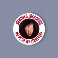 The Shining lockdown vinyl sticker . Here's Johnny! sticker . Love The Shining