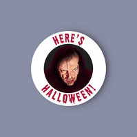 The Shining - Here's Halloween! - glossy vinyl sticker . Halloween sticker
