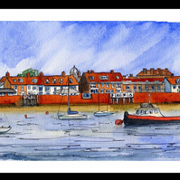 Original Watercolour - The Quay from Across the Water