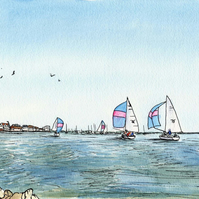 Burnham-on-Crouch Sailing With Pink Sails.  No 37