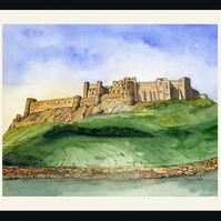 Northumberland Bamburgh Castle Prints or Cards