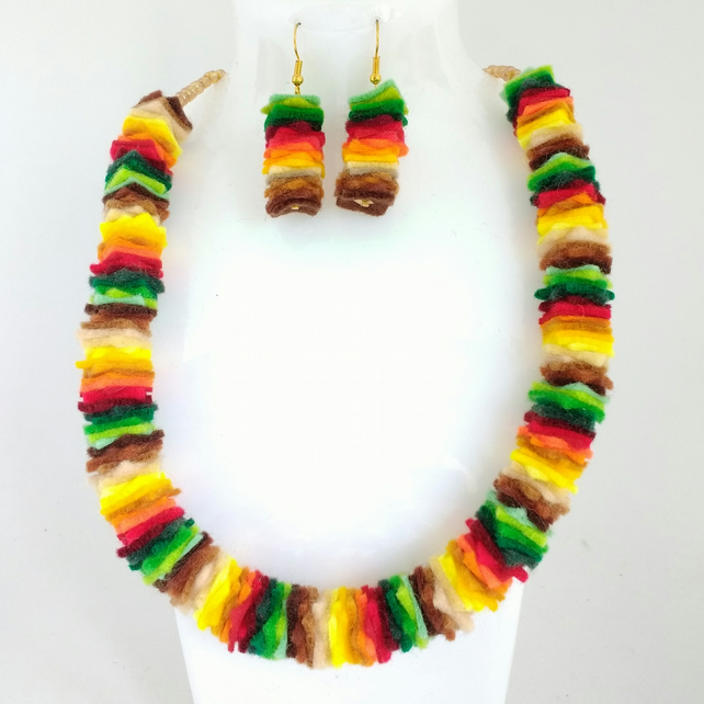 Autumn Leaves Felt Necklace
