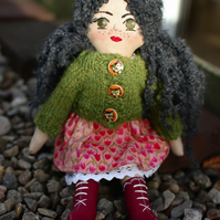 Handmade doll, Rag doll, Cloth doll, Birthday gift, Gift idea, Christmas gift