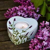 Lavender Tea Light Holder