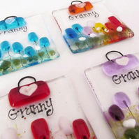 Granny MINI Fused Glass Suncatcher (Choice of Colours)