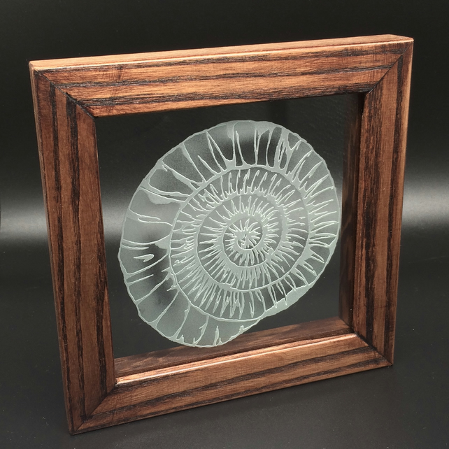 Freestanding Frame with Ammonite design