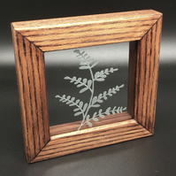 Freestanding Frame with Plant design