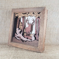 If You Go Down In The Woods Today - Wooden 3D Laser Cut Picture
