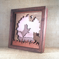Cats in the Garden - Wooden 3D Laser Cut Picture