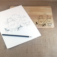 Sketch Your Own Exclusive Personalised Chopping - Cheese - Bread Boards