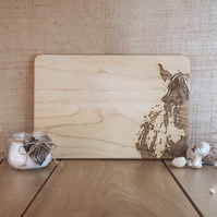 Horse - Laser Engraved Wooden Chopping, Bread or Cheese Board
