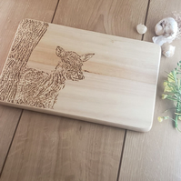 Fawn - Laser Engraved Wooden Chopping, Bread or Cheese Board