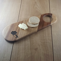 Say Cheese! - Hand-made Laser Engraved Small Wooden Chopping, Cheese Board