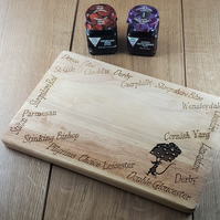 Cheese Dash! - Laser Engraved Wooden Cheese or Chopping Board