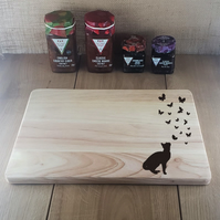 All of a Flutter - Laser Engraved Wooden Cheese or Chopping Board