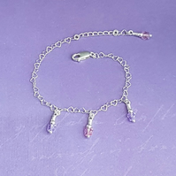 Gorgeous Hearts and Butterflies Sterling Silver Bracelet.