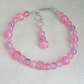 Pretty Pink & lilac Candy-Coloured Glass Bead Bracelet