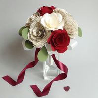 Petite Bridesmaid Posy or Flower Girl Book Page Bouquet Choice of Colours