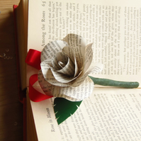 Literary Boutonnierre Buttonhole English Book Rose Choice of authors