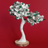 """Book Art Tree 6.5"""" Ruth Rendell Altered Book Page Literary Bonsai"""