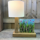 Pink Flower Meadow Table Lamp