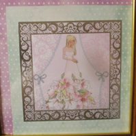 Woman in Strapless Rose Dress Frame