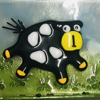 Quirky cow freestanding ornament