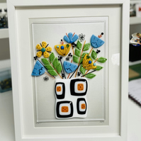 Fused glass art, wall decoration, art work