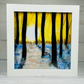 Fused glass sunset picture
