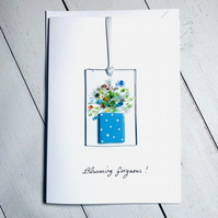 Fused glass keepsake blank greetings card