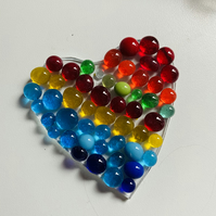 Fused glass hearts , made at home kit