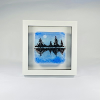 Fused glass landscape art , picture