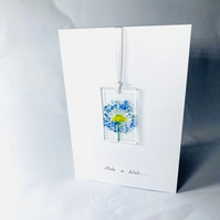 Fused glass keepsake hand made card